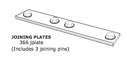 Joining Plates (pair with bolts)