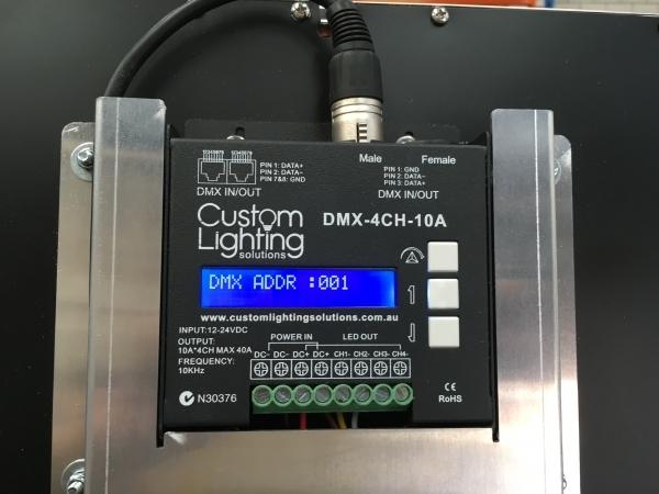 DMX 10KHZ 16BIT 4 x 10A  LED DECODERDMX 4CH Digital decoder